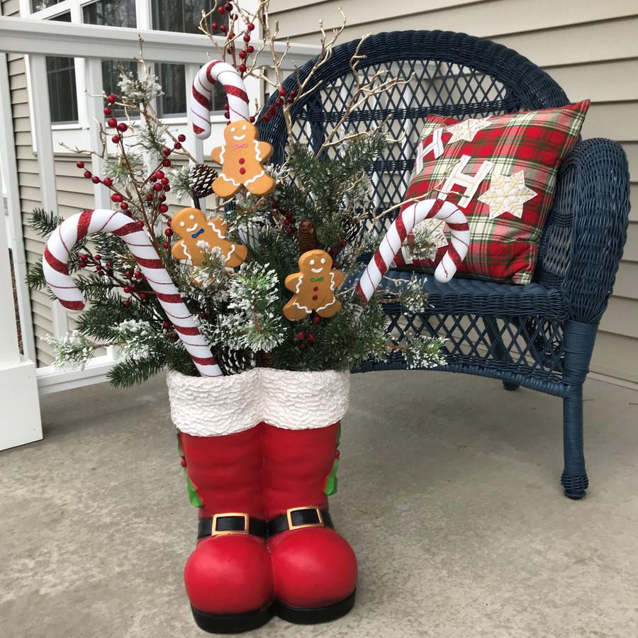 Santa Boots Statue Outdoors