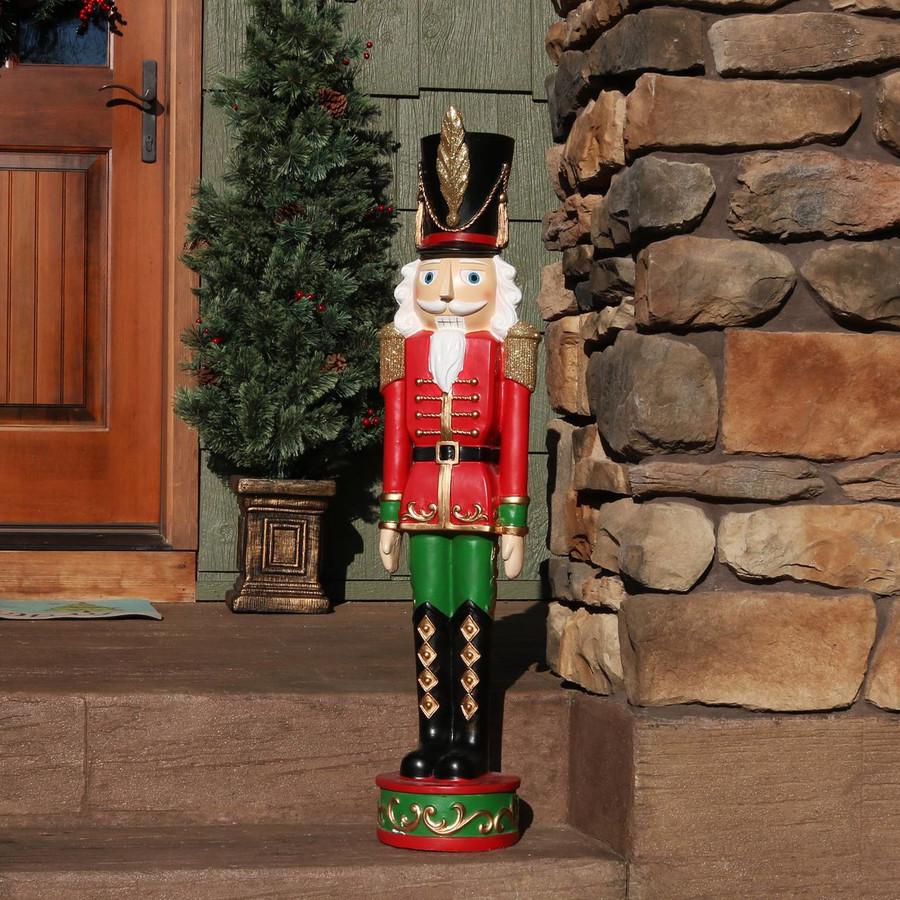 Sunnydaze Kristoff the Nutcracker Soldier Indoor/Outdoor Christmas Decor, Polyresin, 37-Inch