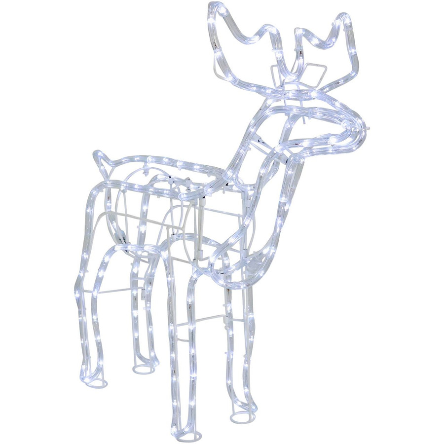 Christmas Holiday Standing Deer White LED Light Display
