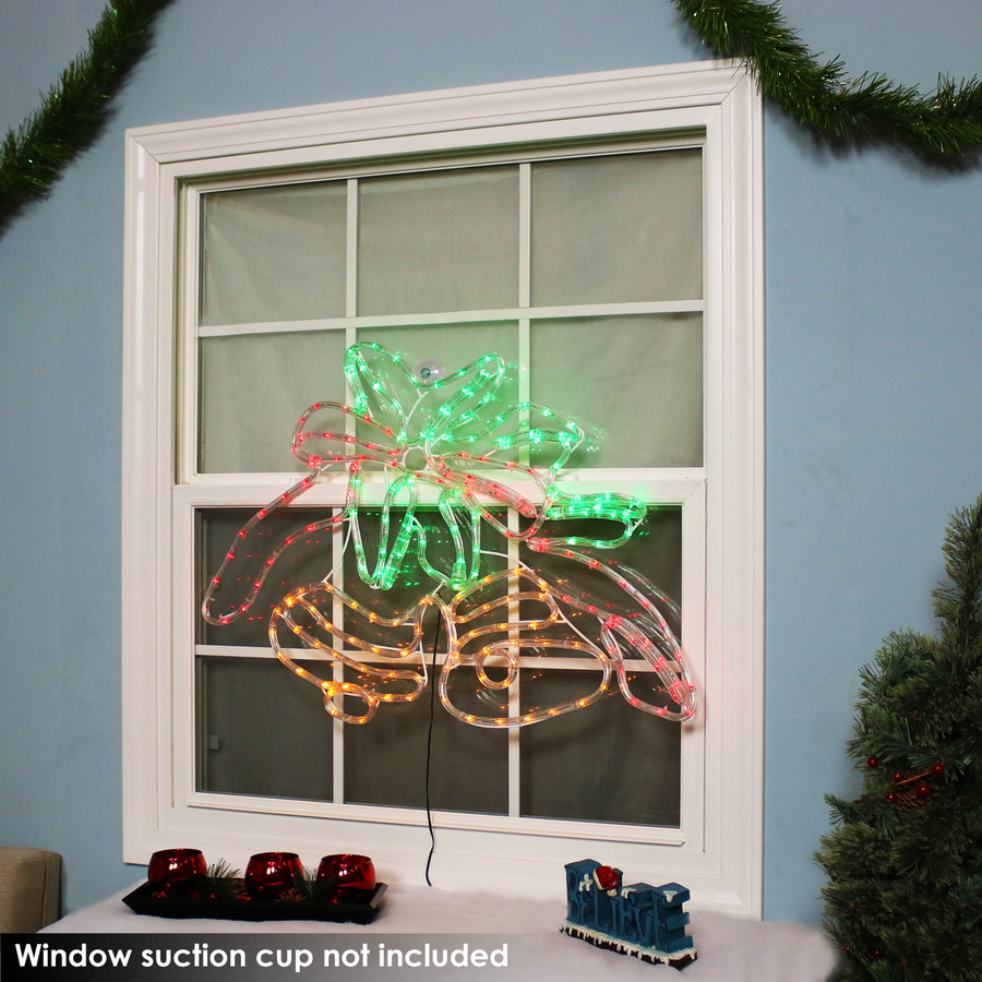 Double Bells Christmas LED Rope Window Light Display, Indoors