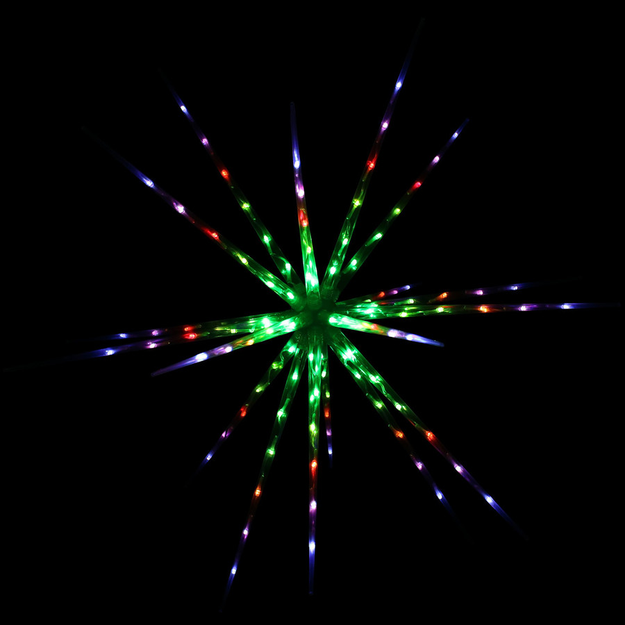 Prelit Color-Changing Christmas Holiday Hanging LED Starburst, Colorburst