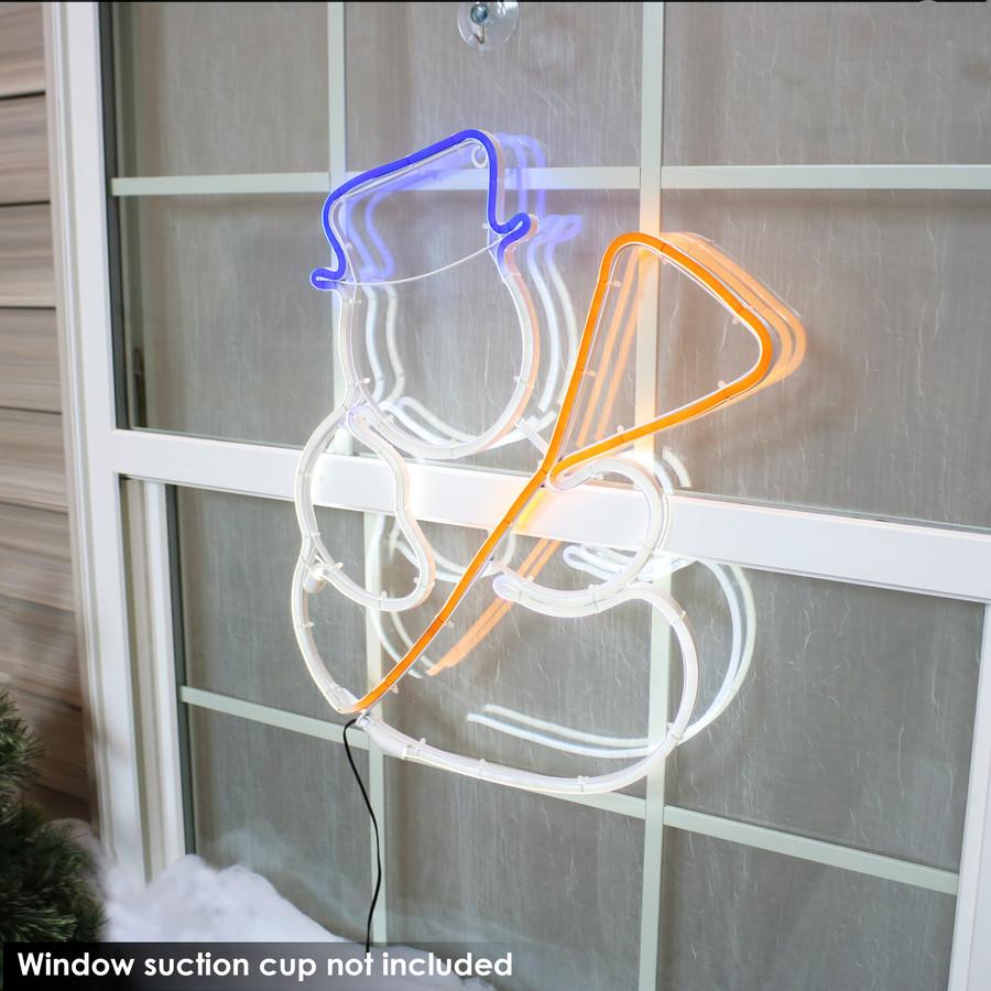 Multi-Color LED Snowman Decoration, Outdoors