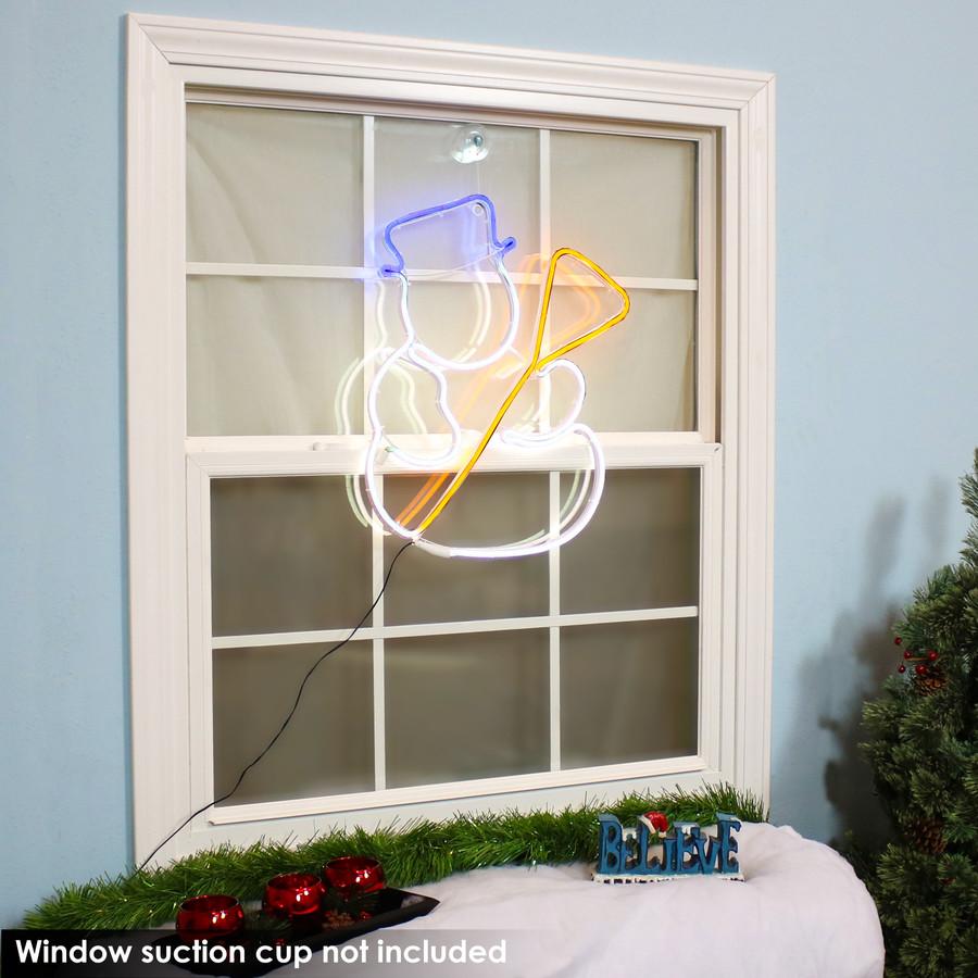 Multi-Color LED Snowman Decoration, Indoors
