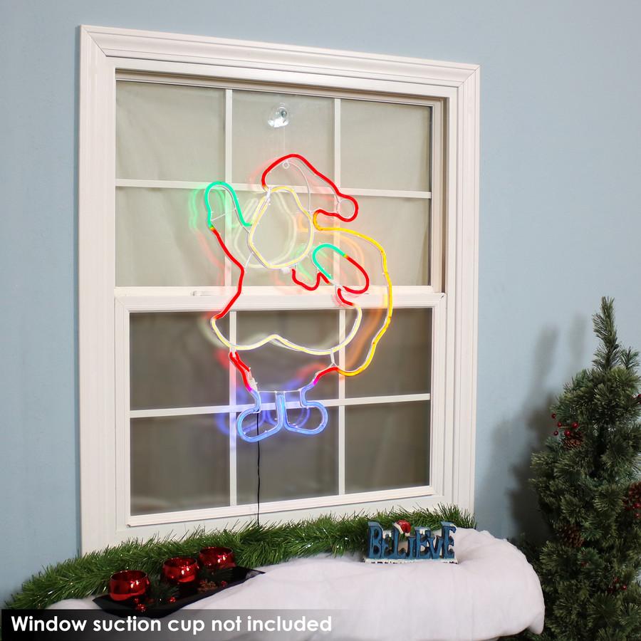 Multi-Color LED Santa Claus Decoration, Indoors