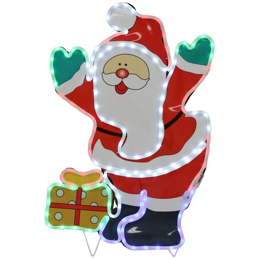 LED Rope Light Santa Claus Decoration