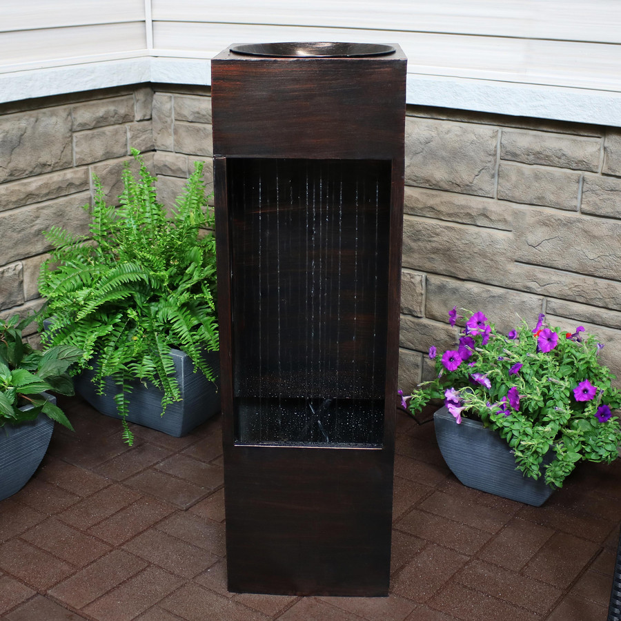 Tranquil Rain Shower Outdoor Water Fountain