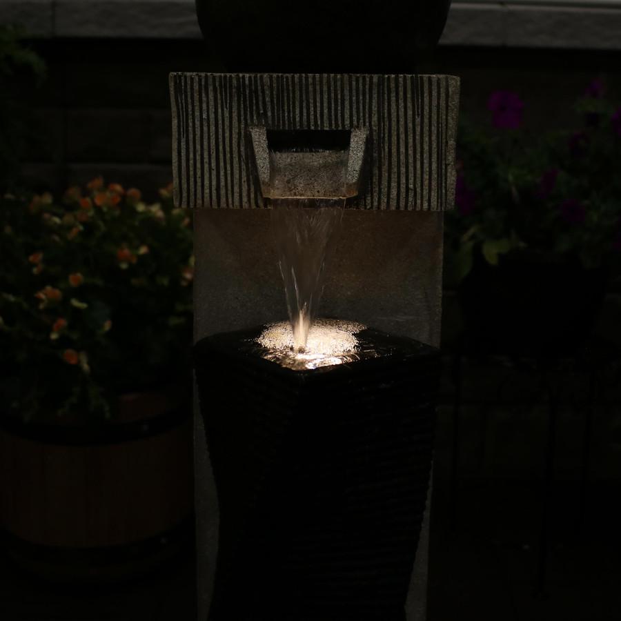Closeup of Fountain, Nighttime