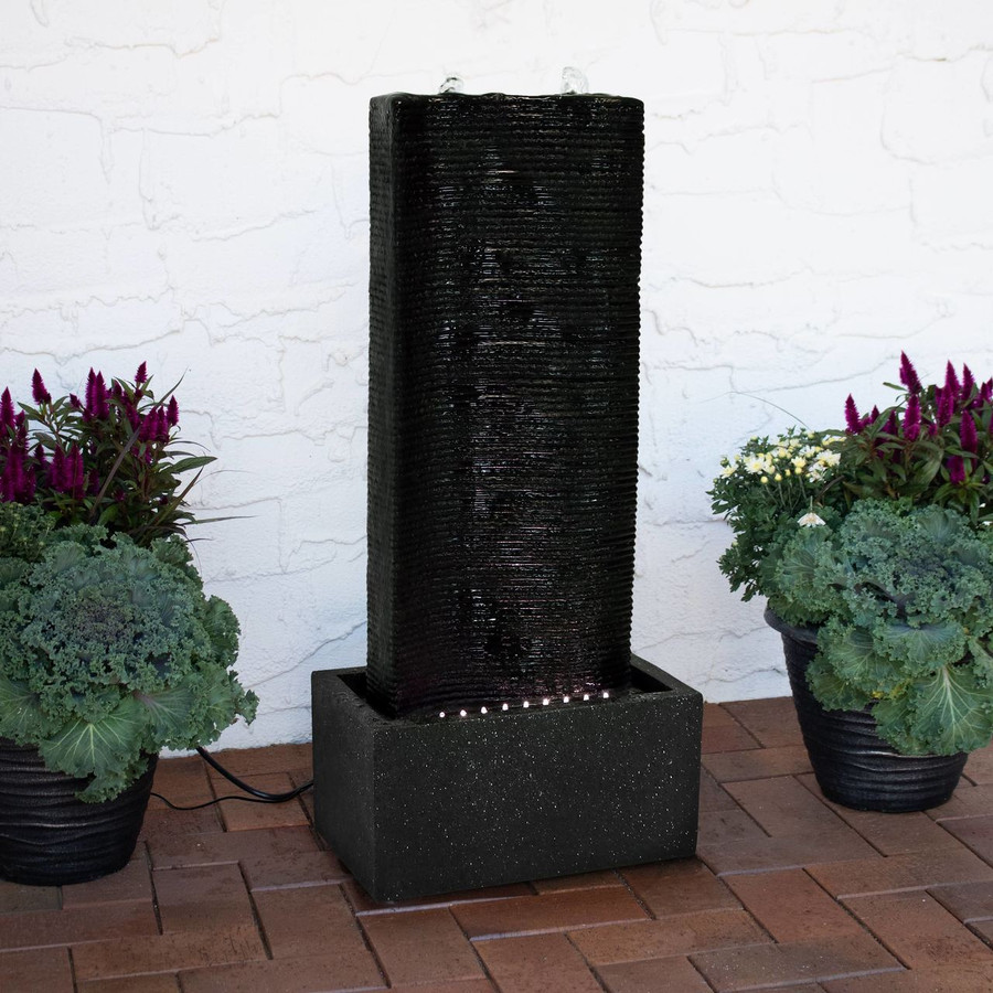 Rippling Tower Outdoor Water Fountain