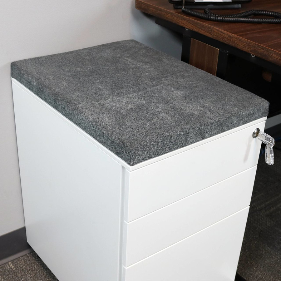 Gray File Cabinet Cushion (Cabinet not included.)