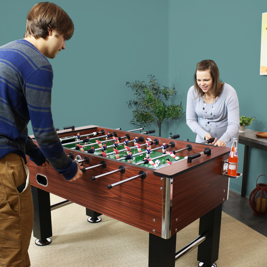 55-Inch Faux Wood Foosball Table