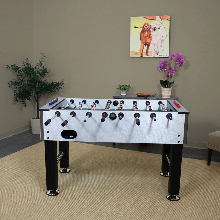 Metallic Foosball Table
