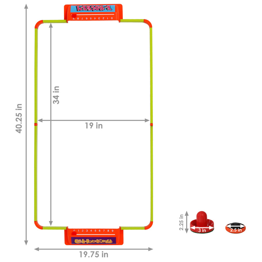40-Inch E-Hockey Set Dimensions