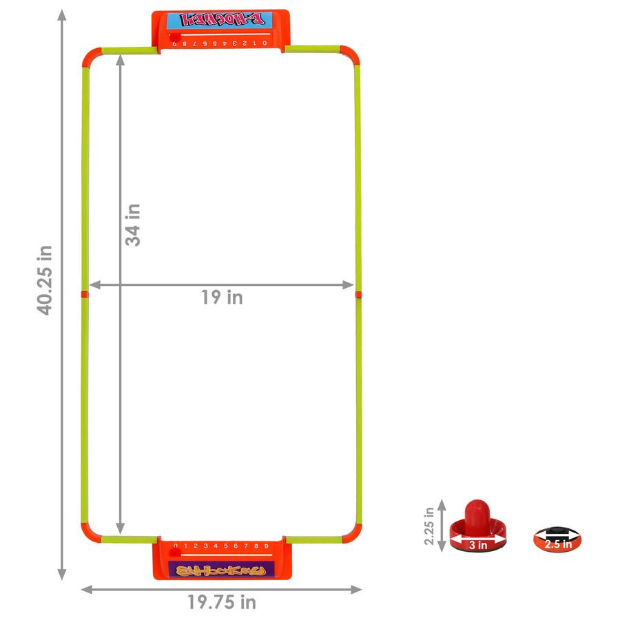 40-Inch E-Hockey Set Dimensions