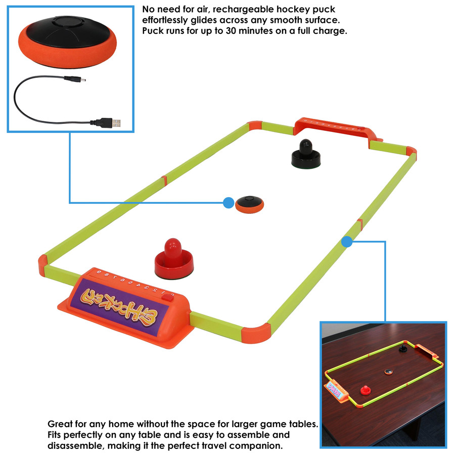 40-Inch E-Hockey Set Infographic