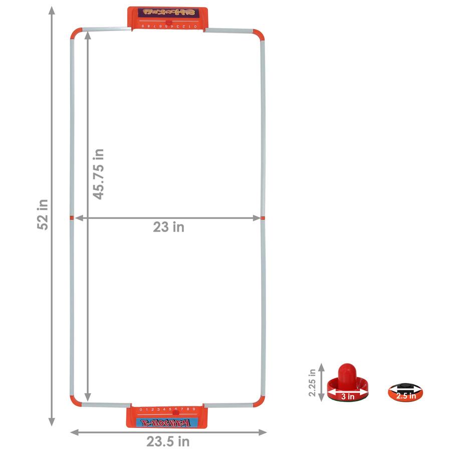 52-Inch E-Hockey Set Dimensions