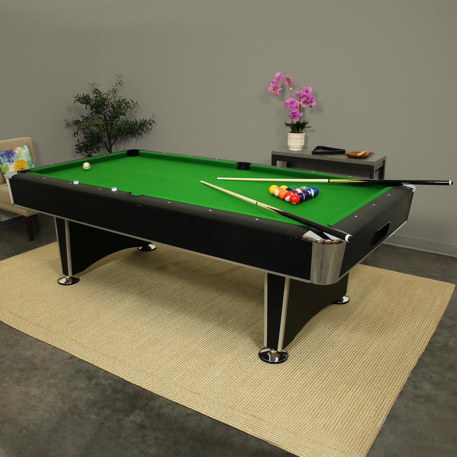 8-Foot Billiard Pool Table with Game Accessories