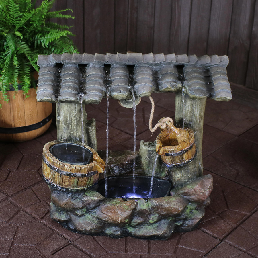 Enchanted Wishing Well Outdoor Water Fountain