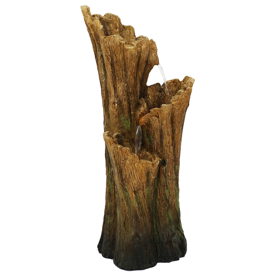 Staggered Hollow Logs Outdoor Water Fountain