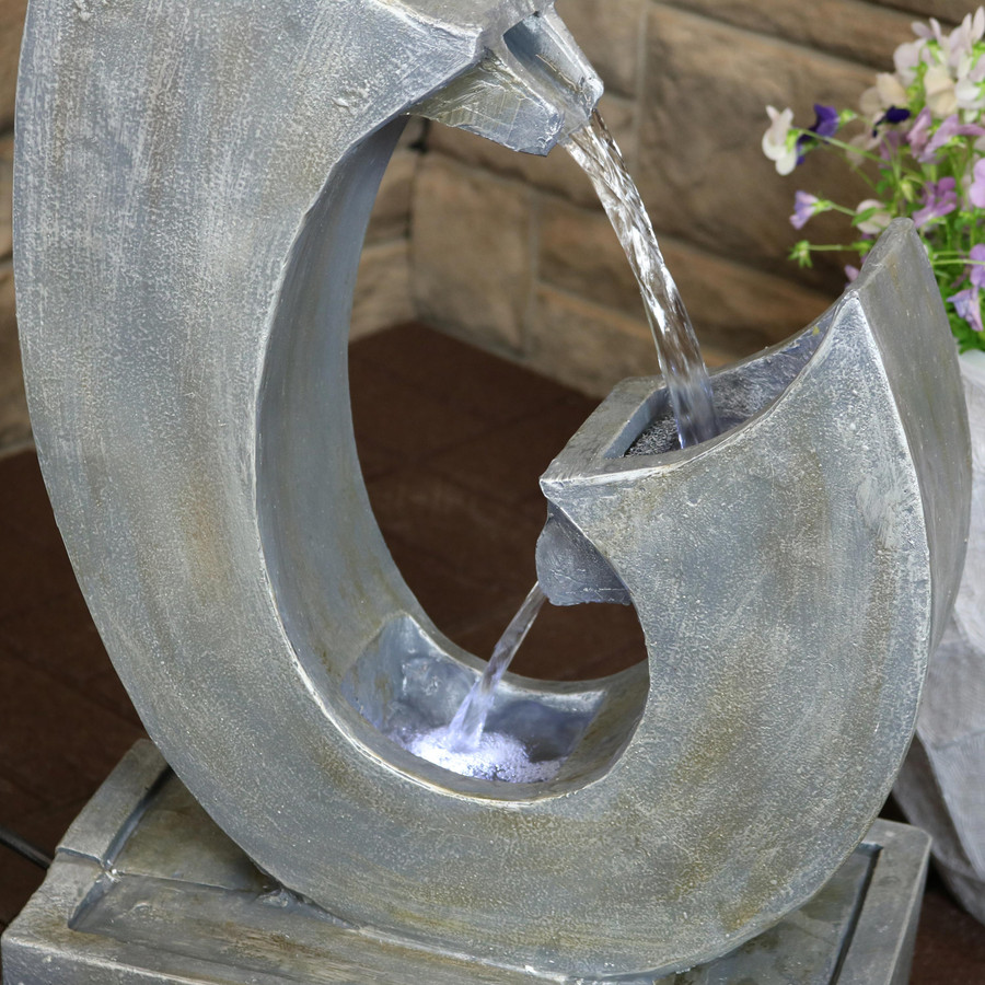 Modern Flowing Curves Outdoor Water Fountain