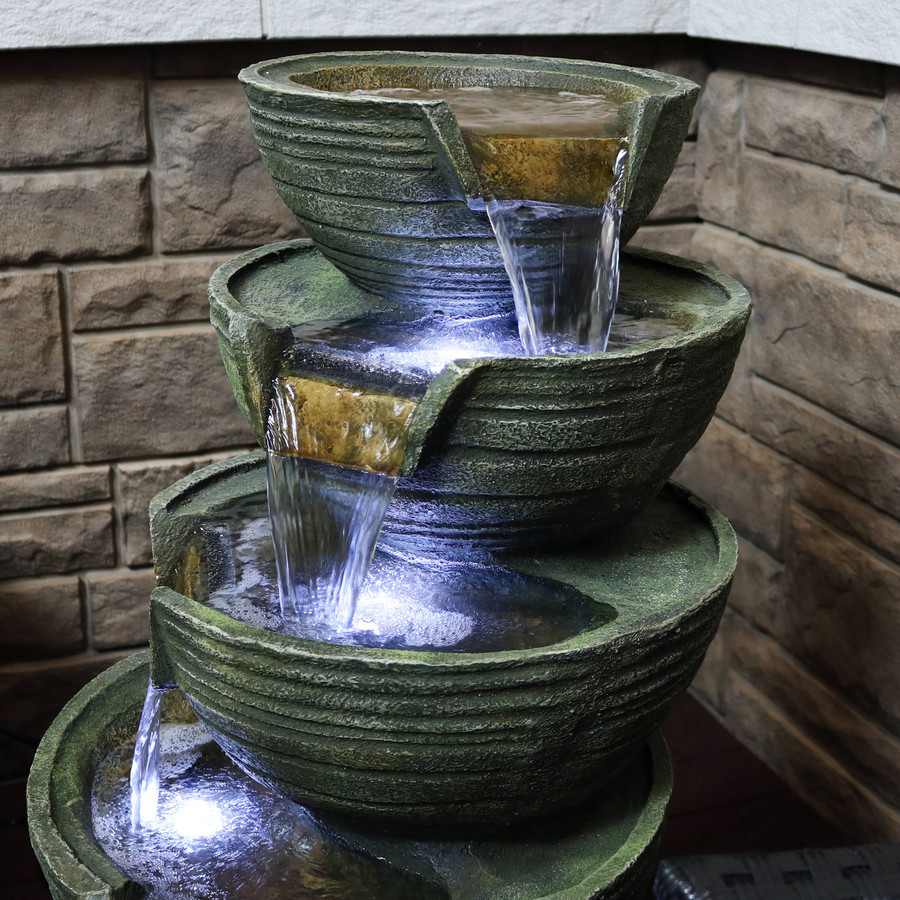 Closeup of Top Tiers of Fountain