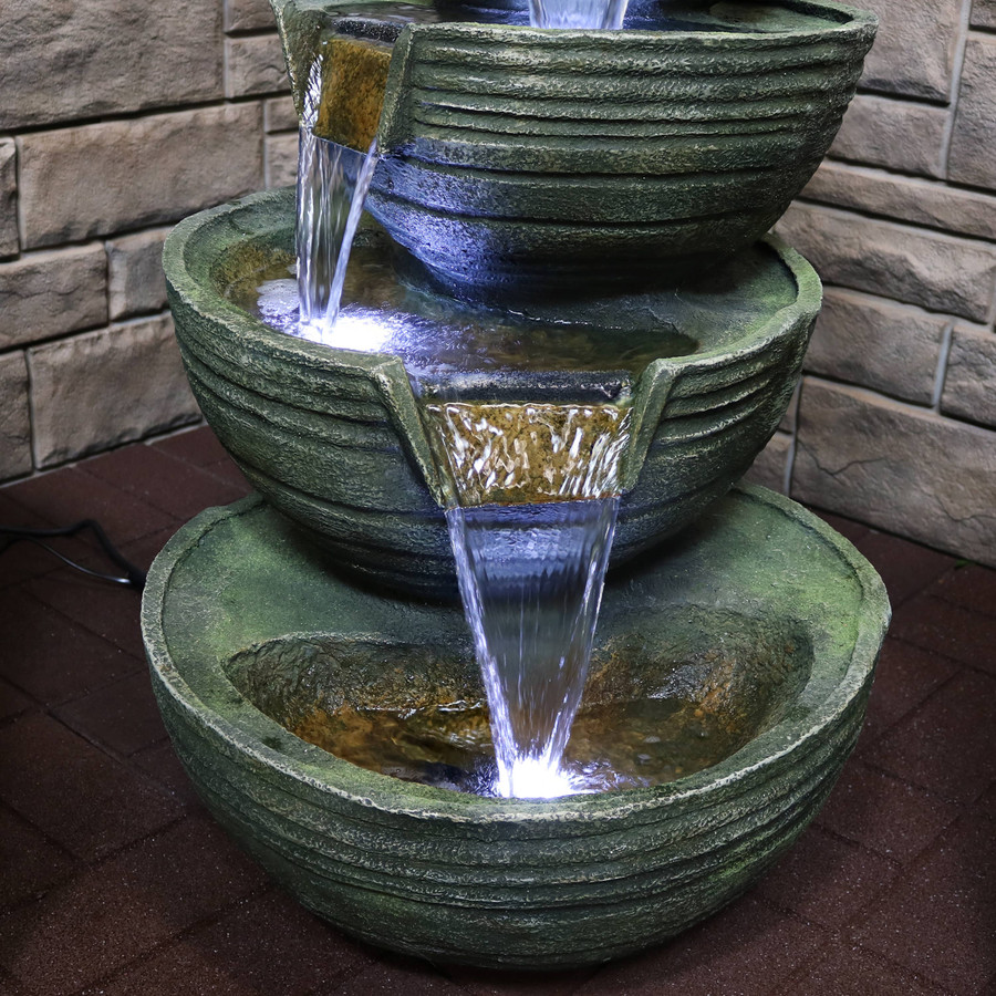 Closeup of Bottom Tiers of Fountain