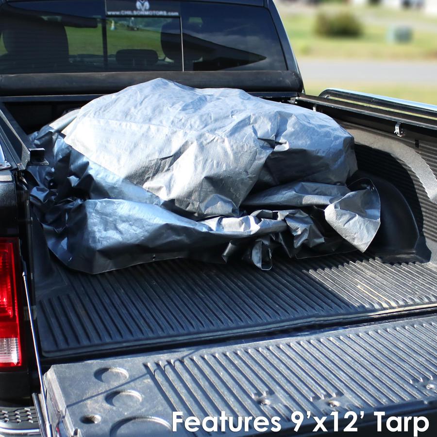 Heavy-Duty Multi-Purpose Waterproof Gray-Black Tarp (9' x 12' Tarp Shown)