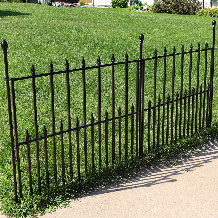 2-Piece Spear Top Border Fence