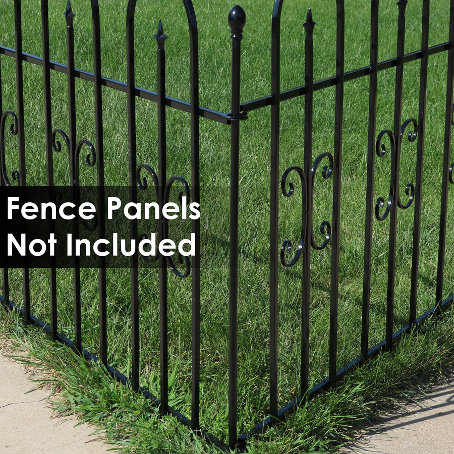 3-Foot Iron Fence Post for Border Fence Panels
