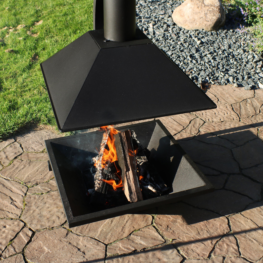Closeup Overhead View of Chiminea