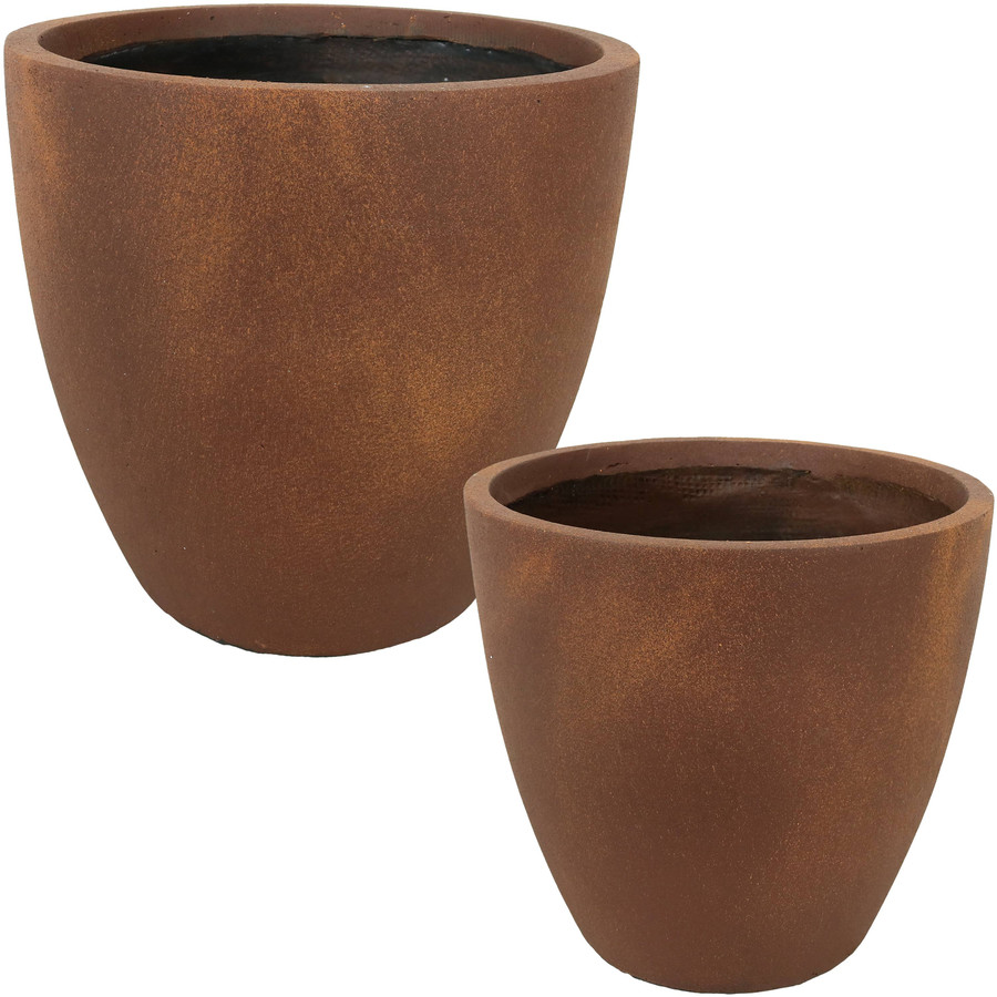 "Set of One 13"" and One 15"" Planters"