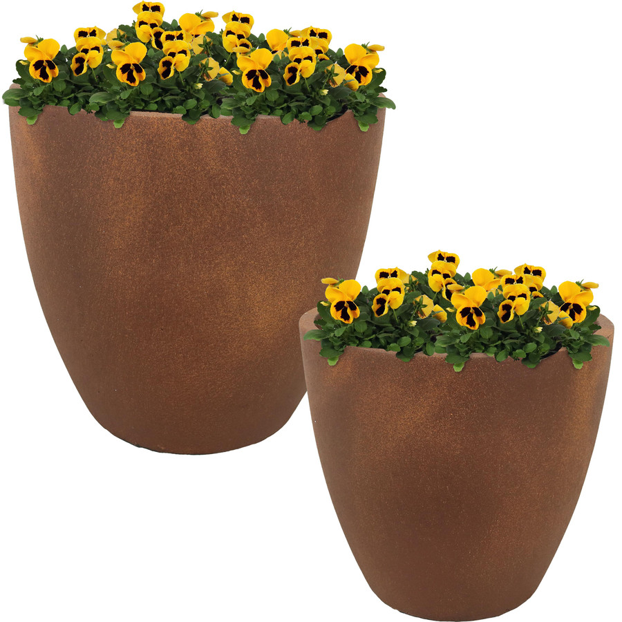 """Set of One 13"""" and One 15"""" Planters"""