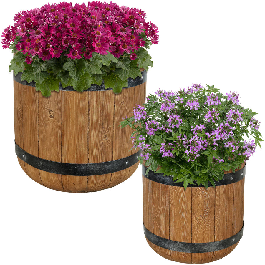 """One 12"""" and One 15"""" Planter Set"""
