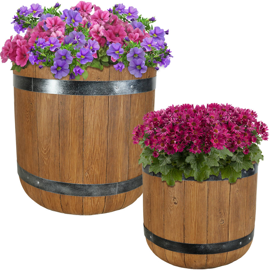 "One 15"" and One 19"" Planter Set"