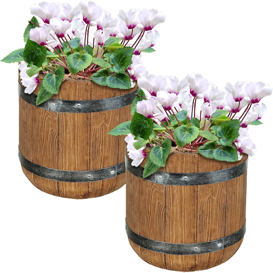 "Set of Two 9"" Planters"
