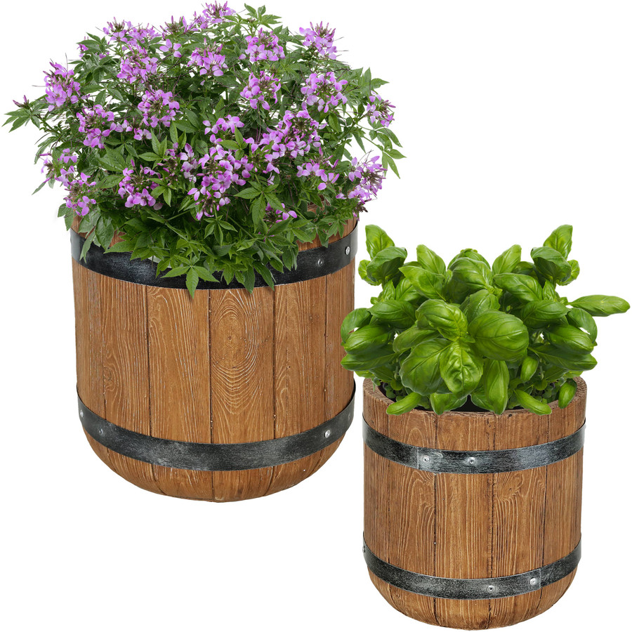 """One 9"""" and One 12"""" Planter Set"""