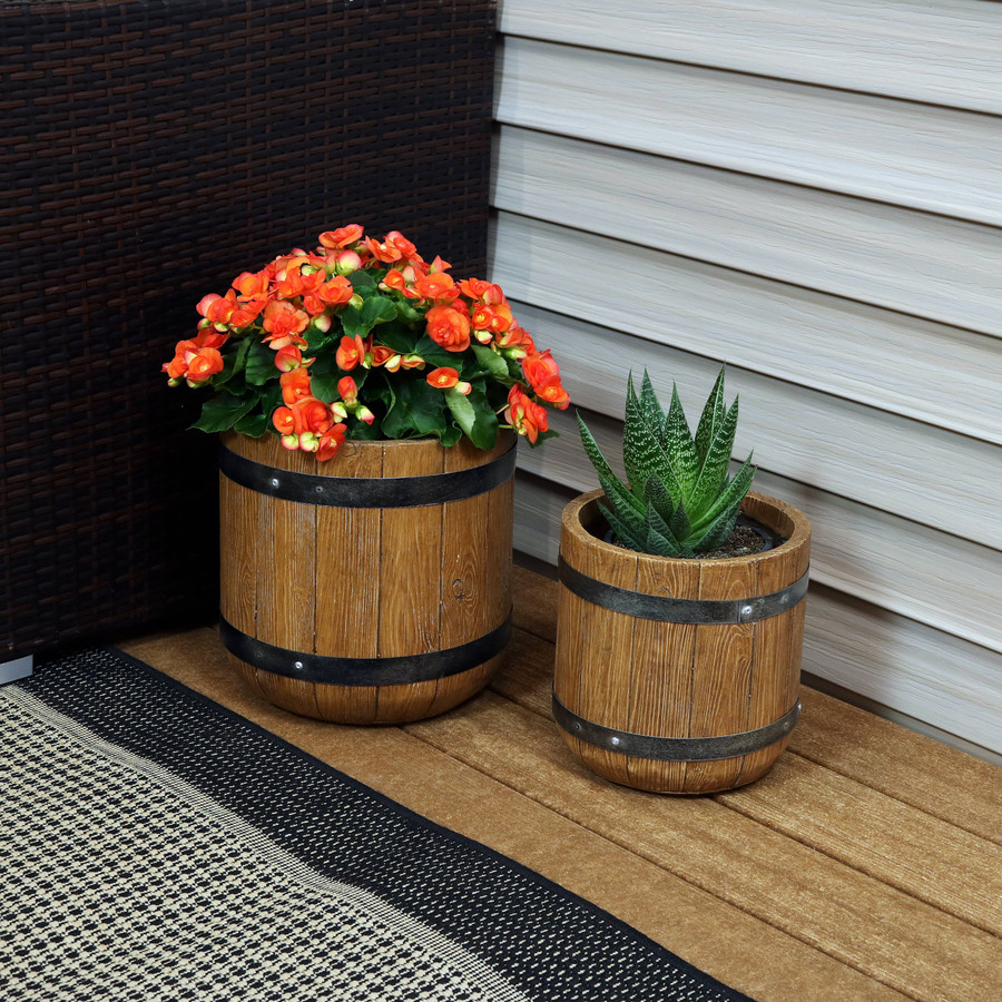 "One 9"" and One 12"" Planter Set"