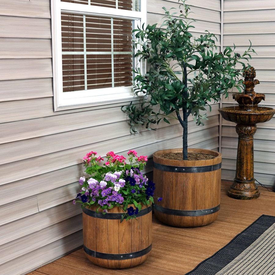 """One 15"""" and One 19"""" Planter Set"""