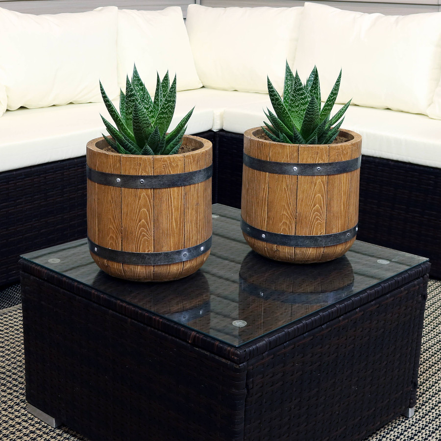 """Set of Two 9"""" Planters"""