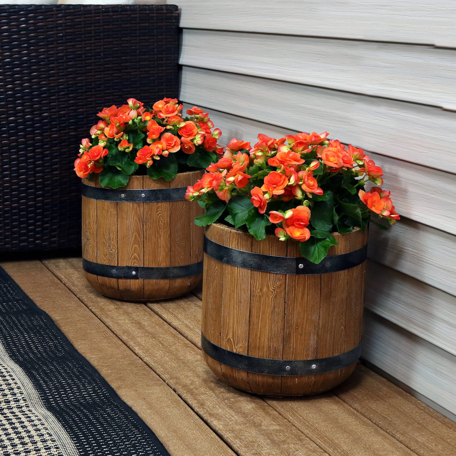 """Set of Two 12"""" Planters"""