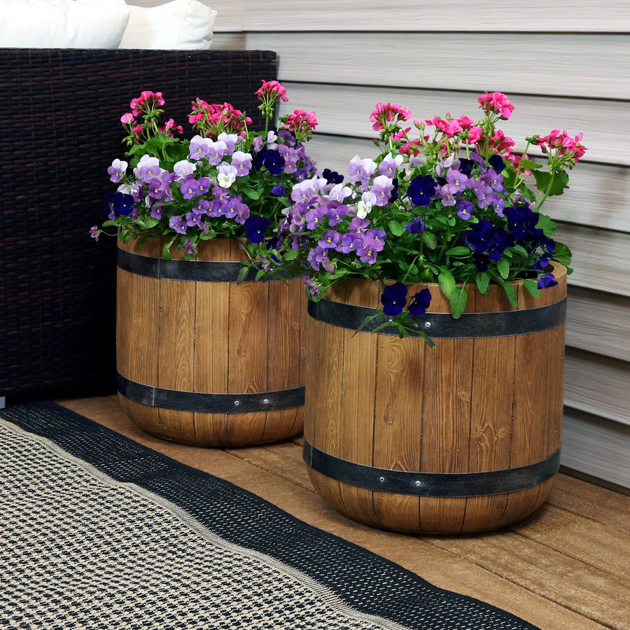 """Set of Two 15"""" Planters"""