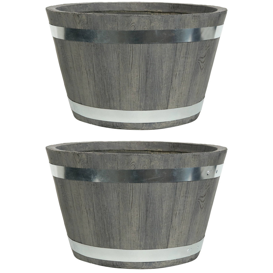 "Set of Two 17"" Planters"