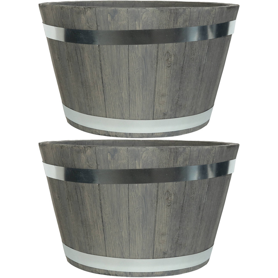 "Set of Two 20"" Planters"