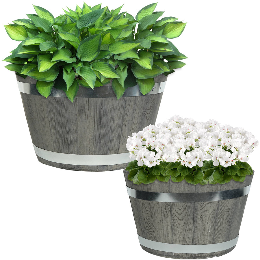 "One 14"" and One 17"" Planter Set"