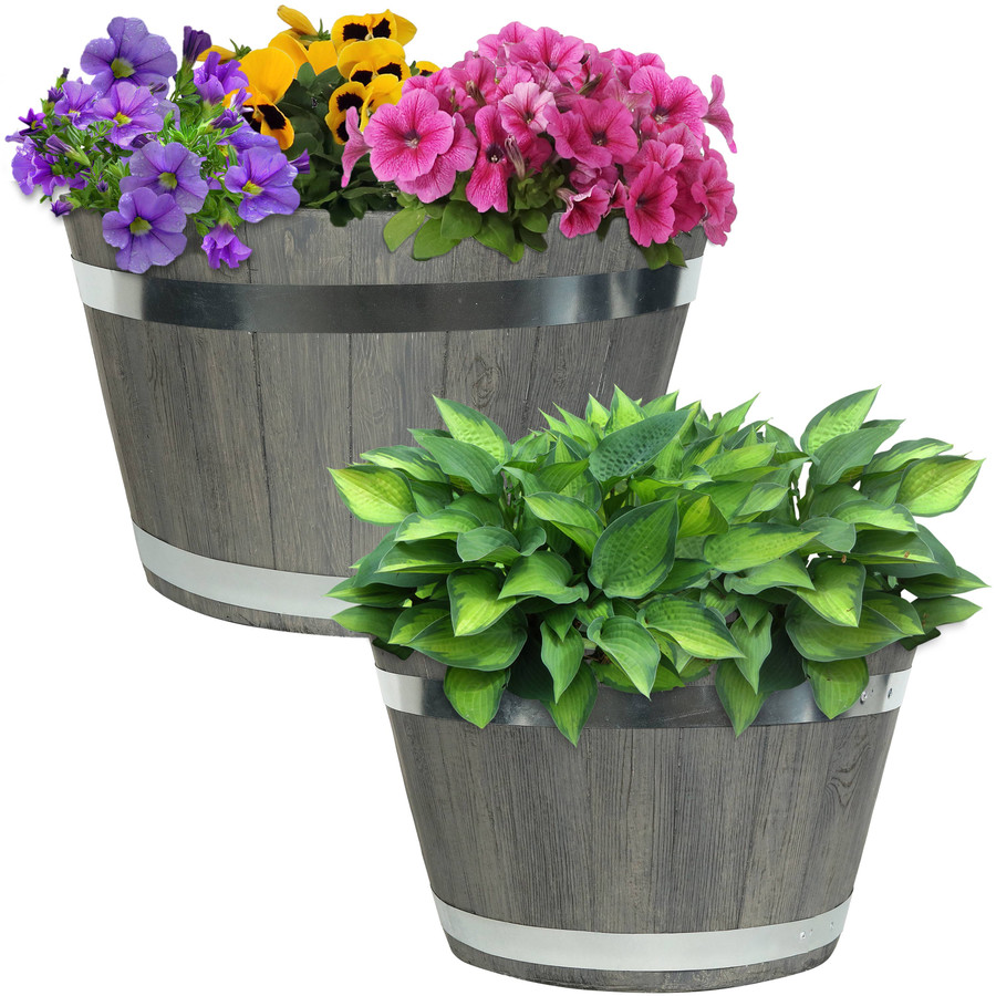 "One 17"" and One 20"" Planter Set"