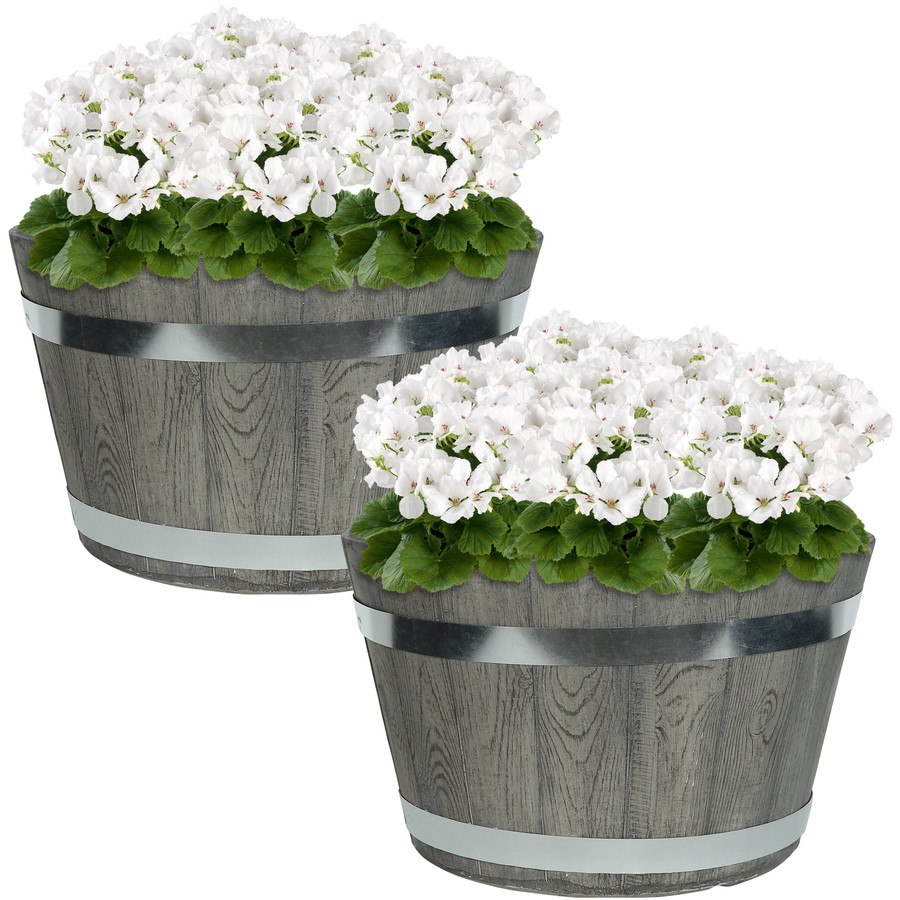 "Set of Two 14"" Planters"