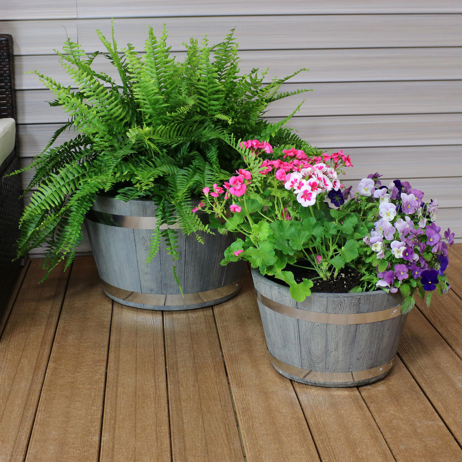 """One 14"""" and One 17"""" Planter Set"""