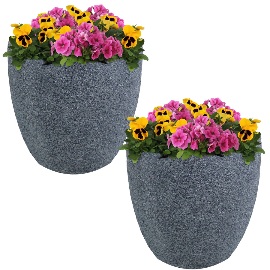 "Set of Two 12"" Planters"