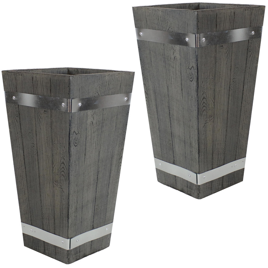 "Set of Two 18"" Planters"