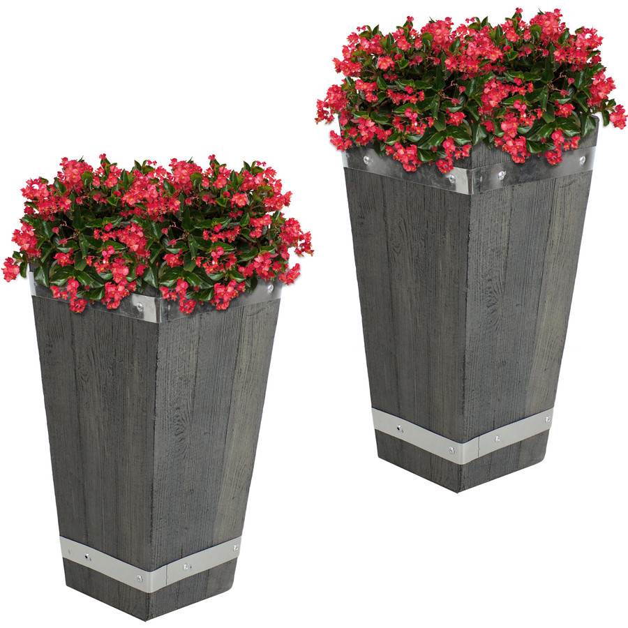 "Set of Two 15"" Planters"