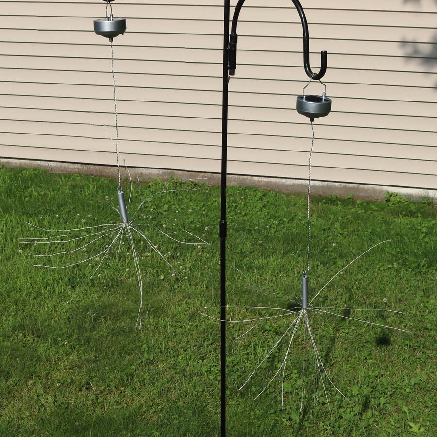 Solar Outdoor Warm White LED Starburst Lights, Daytime